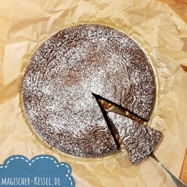 glutenfreier Schokokuchen aus Weihnachtsschokolade