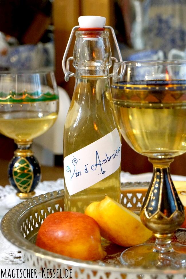 Rezept für Gewürzwein mit Honig & Orangenblütenwasser aus dem Mittelalter
