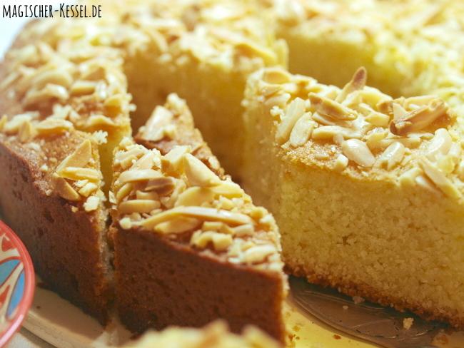 Rezept für arabischen Mandelkuchen Basbousa