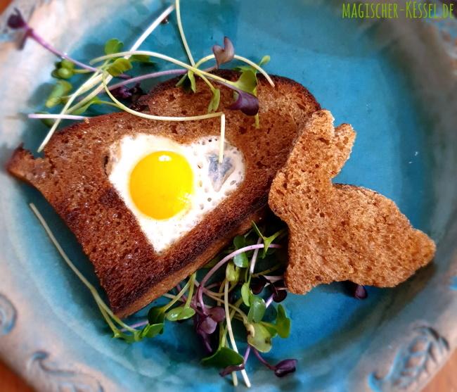 Osterbrunch: Rezept für Wachtelei im Toastbrot