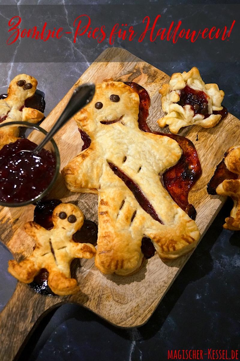 Süßes Blätterteiggebäck mit Marmeladenfüllung: Zombie-Pies für Halloween