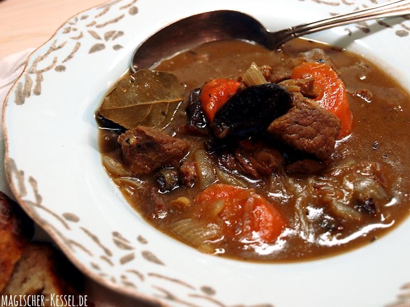 Irish Stew - nicht mit Guiness, aber mit tschechischem Schwarzbier