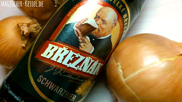 Flasche tschechisches Schwarzbier Breznak