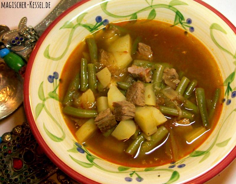 Rezept für arabische Bohnensuppe mit Lammfleisch