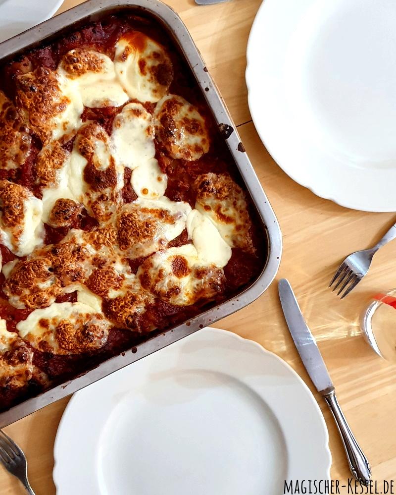 Rezept für einfache Lasagne Bolognese